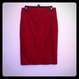 Express red pencil skirt 6
